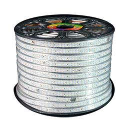 Tira LED 220V SMD3014 doble, 240Led/m, carrete 50 metros, Blanco neutro